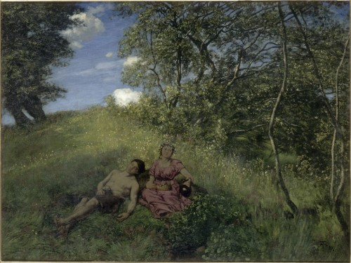 Hans THOMA, Siesta, 1889. Huile sur toile. Acquisition, 1989. RF 1989 39. ©photo musée d'Orsay / rmn
