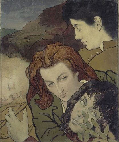 Charles MAURIN, Composition, vers 1892. Huile sur toile. Acquisition, 1997. RF 1997 10. ©photo musée d'Orsay / rmn