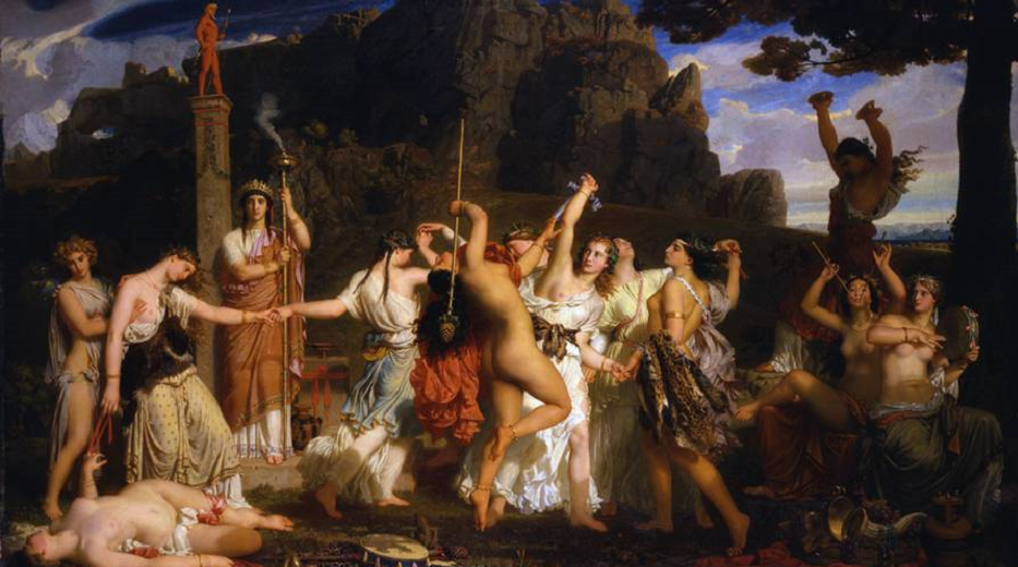 Charles Gleyre, La danse des bacchantes, 1849 from amis-musee-orsay.org