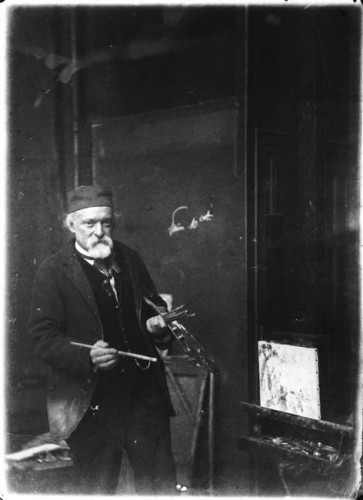 Emile BERNARD, Paul Cézanne dans son atelier, 1894. Acquisition, 1994. PHO 1994 41. ©photo musée d'Orsay / rmn
