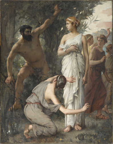 Jean Alfred MARIOTON, Ulysse et Nausicaa, 1888. Acquisition 2016. © photo musée d'Orsay  - rmn / Patrice Schmidt
